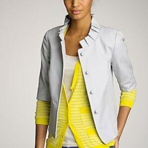 J. Crew gray canvas Atelier jacket